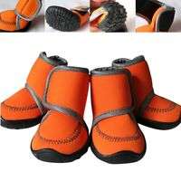4Pcs Pet Waterproof Shoes Soft Sole Non-slip Nonslip Dog Cat  Winter Warm Boot e