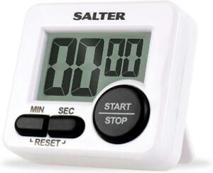 Salter Mini Kitchen Timer, Magnetic, Loud Beeper, Large Start/Button - 398WHXR