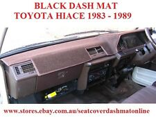 DASH MAT, BLACK DASHMAT, DASHBOARD COVER FIT TOYOTA HIACE 1983-1989, BLACK