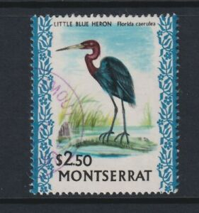 Montserrat - 1970, $2.50 Little Blue Heron Bird stamp - F/U - SG 253