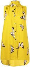 Maglie e camicie da donna senza maniche giallo con colletto
