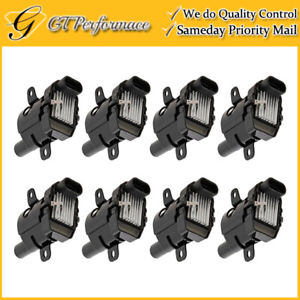 OEM Quality Ignition Coil 8PCS Set for GMC Yukon Savana Sierra 1500 2500 3500 V8