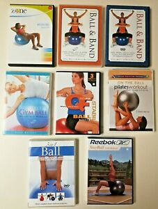 Stability Balance Ball Band Workouts DVD Exercise Fitness Core Focused Lot of 8