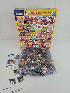 """White Mountain General Mills Cereal Boxes 1000 Piece Jigsaw Puzzle 24""""x30"""" 1261A"""