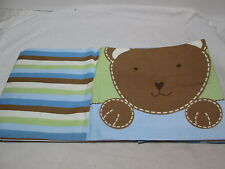 Wishes & Kisses of Sandra Magsamen Beary Cute Window Valance 60x10 Blue, Green