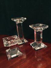 Glass Platform Candle Holder Trio