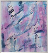 Un moderno originale pittura astratta su carta siglato, ma da artista sconosciuto