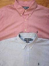 "Lots of 2 Ralph Lauren Pony/L Checks Long/S Button Down Shirt Men 1734/35 ""EX"""