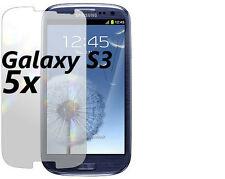 Samsung Galaxy S3 Screen Protectors 5x with Cleaning Cloth! Clear Anti-UV!