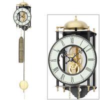 AMS Reloj De Pared Del Péndulo mecánico Planta esqueleto Metal pintado Nuevo