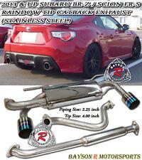 Catback Exhaust (Rainbow Tip) Fots 12-16 BRZ FR-S