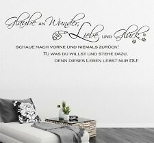 Wall Tattoo Believe In Wonder Love and Luck sayings Living Room Hallway Quote