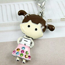 Pink School Girl Birthday Dress Clip on Charm for Charm Bracelet Pendant