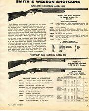 1974 Print Ad of Smith & Wesson Model 1000 Auto & 916 Eastfield Pump Shotgun