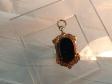 Mourning Jewelry Antique Fob/Seal/Charm.Oval Agate With Relic.