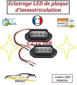 Eclairage LED pour plaque d'immatriculation puissance 10/30 volt IP 65 vendu X2
