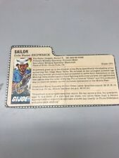 GI JOE 1985 Shipwreck Action File Card Beautiful B