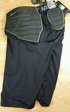 Nike 626419-010 Black Green Pro Combat Football Compression Shorts Men's Size XL