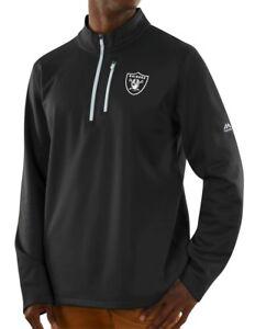 """Oakland Raiders Majestic NFL """"Scoring"""" Men's 1/2 Zip Midweight Sweatshirt"""