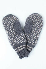 Original Moncler Knit Warm Wool Blend Grey/White Men Gloves in size M