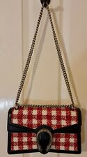 GUCCI Small Dionysus Vichy Wool Tweed Bag In White and Red Cost RRP £1680