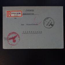 ALLEMAGNE LETTRE RECOMMANDE FELDPOST BRIEF 31.01.1944 -> WEHRMELDEAMT HILDESHEIM