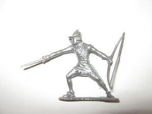 Marx robin hood figure silver excellent recast 1980's