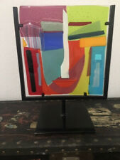 Signed Glass Abstract Woman Sculpture