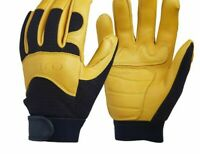 Men's Outdoor Leather Gloves Security Protection Wear For Welding And Sports New