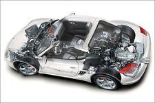 Porsche Cayman S ITALIEN Affiche CONCESSIONNAIRE AUTOMOBILE Super Voiture Poster Print