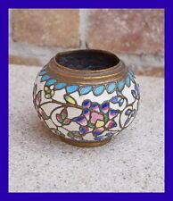 Vase, Messing emailliert um 1900    (# 2687)