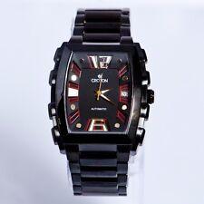 croton Men's Black Automatic Swiss Saphire Crystal
