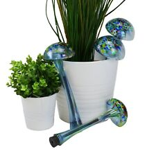 More details for pack of 4 - hand blown glass watering globes quencher self watering dripper