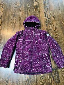 Ride Girls Snowboard Jacket, Size M (10-12), Insulated Snow Jacket, Purple