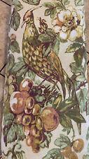 Pottery Barn Giorgetta Pheasant Bird Floral Fruit Duvet Cover ~ King Linen Blend