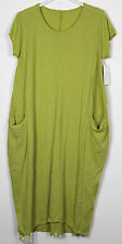 New Italian Lagenlook Quirky Boho Jersey Soft Cotton Stretch Pocket Tunic Dress