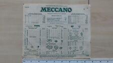MECCANO PARTS PRICE LIST AUGUST 1961