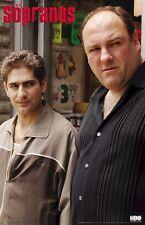THE SOPRANOS POSTER ~ TONY & CHRIS 22x34 TV James Gandolfini HBO Mike Imperioli