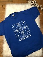 Vintage Four Corners National Monument T Shirt Mens XL Single Stitch Blue UT CO