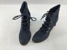 Steve Madden Loola Navy Blue Lace Up Ankle Booties Size 8  H640 LS/