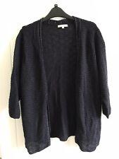Marks & Spencer Per Una 1/2 sleeve Navy Blue knit cardigan size 18