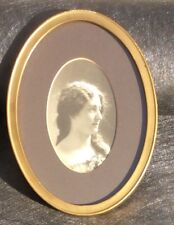 Antique Photo Portrait In Beautiful Gilded Oval Frame