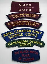COTC Royal Canadian Army Medical Corps Canadian  The Black Watch Shoulder Flash