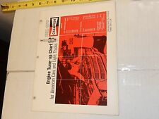 VINTAGE 1965-1972 CHAMPION TUNE-UP SPECIFICATIONS CHART USA CARS AND TRUCKS