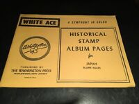 New White Ace Stamp Supplement Pages   Japan -10 Blank Pages