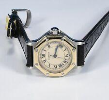 """Cartier """"Santos Ronde Stahl/750er Gold"""" Damenarmbanduhr Ref.:187903"""
