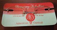 Vintage American Optical Rimway Ful-Vue AO 12K Gold Filled Frames Front Only NOS
