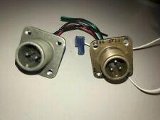 Amphenol MS3102e 10SL 3P & Bendix 4P Solder Cup Male Connectors