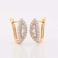 Birthday's Gift!white sapphire attractive 18K Gold Platinum filled earring