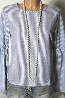 PRIMARK Bluse Gr. 36 blau-weiß gestreift Schlagarm Bluse maritimer Look
